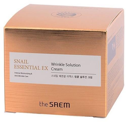 Антивозрастной крем для лица Snail Essential Ex Wrinkle Solution Cream The Saem (фото, вид 1)