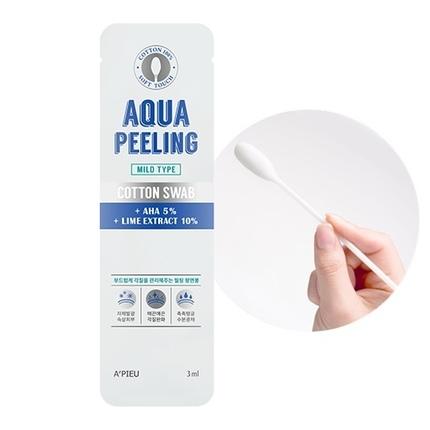 Ватная палочка для пилинга лица с AHA кислотами Aqua Peeling Cotton Swab Mild Apieu (фото, вид 1)