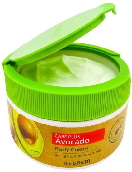 Питательный крем для тела с экстрактом авакадо Care Plus Avocado Body Cream The Saem (фото, вид 1)