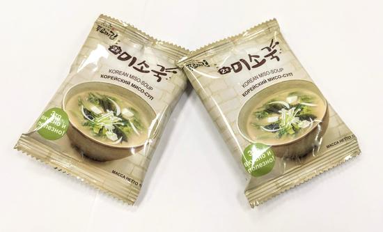 Корейский мисо-суп с морскими водорослями сухой растворимый Фурми Ким (фото, вид 2)