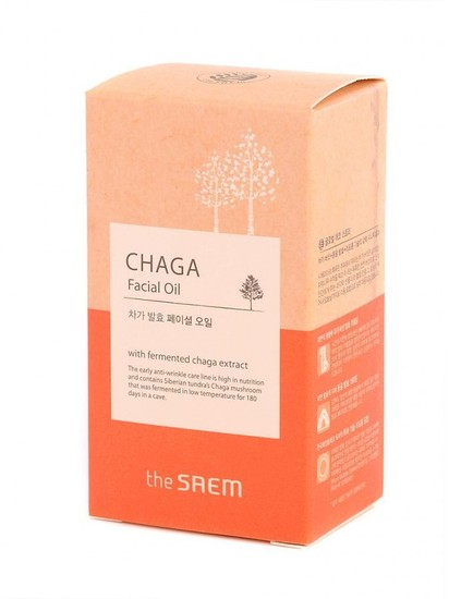 Антивозрастное масло для лица с экстрактом чаги Chaga Facial Oil The Saem (фото, вид 1)