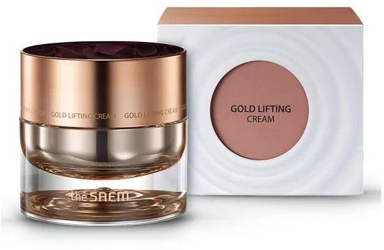 Антивозрастной лифтинг-крем для лица с золотом Gold Lifting Cream The Saem (фото, Антивозрастной лифтинг крем саем)