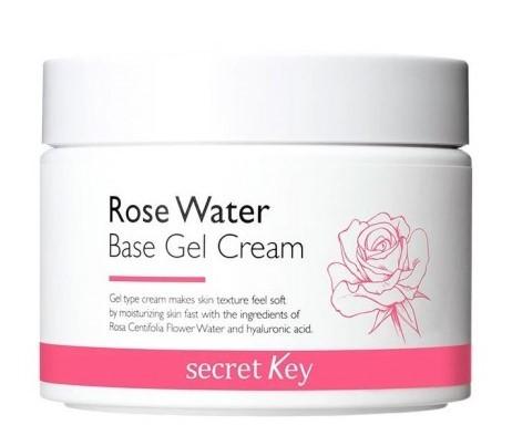 Гель-крем для лица с экстрактом розы Rose Water Base Gel Cream Secret Key (фото, вид 1)