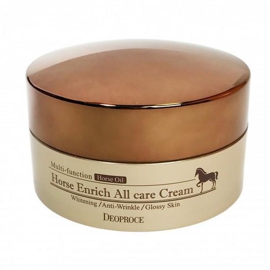 Питательный крем для лица с лошадиным жиром Horse Enrich All Care Cream Deoproce (фото, вид 1)