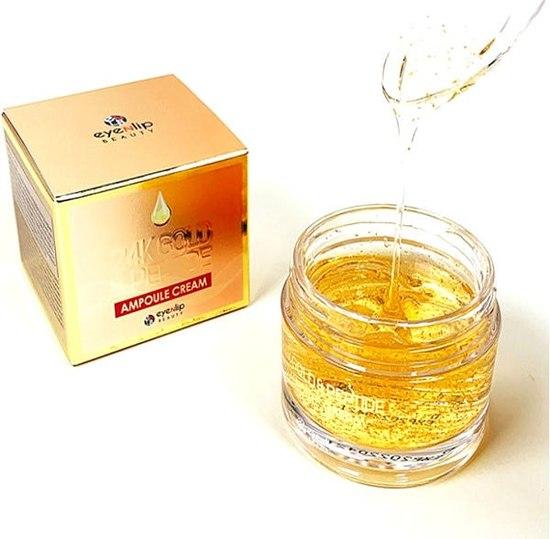 Ампульный крем для лица с золотом и пептидами 24K Gold & Peptide Ampoule Cream Eyenlip (фото, вид 1)