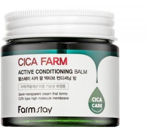 Восстанавливающий крем-бальзам для лица с центеллой азиатской Cica Farm Active Conditioning Balm FarmStay (фото, вид 1)