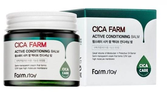Восстанавливающий крем-бальзам для лица с центеллой азиатской Cica Farm Active Conditioning Balm FarmStay (фото, вид 2)