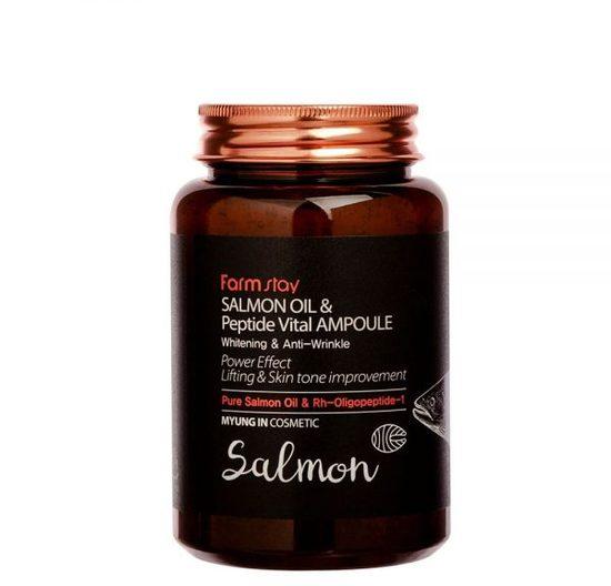 Многофункциональная ампульная сыворотка с маслом лосося и пептидами All-In-One FarmStay (фото, вид 1)