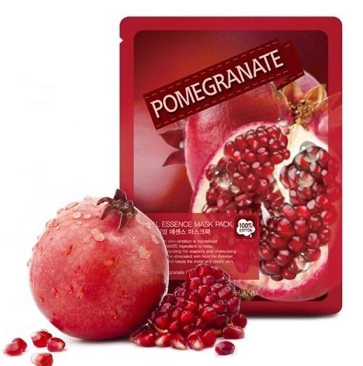 Тканевая маска с гранатом Real Essence Pomegranate Mask Pack May Island (фото, вид 1)