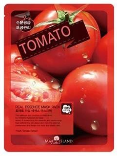 Тканевая маска для лица с экстрактом томата Real Essence Tomato Mask Pack May Island (фото, вид 1)