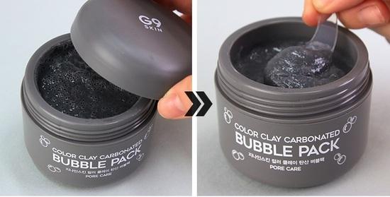 Глиняная пузырьковая маска для лица Color Clay Carbonated Bubble Pack G9SKIN (фото, вид 2)