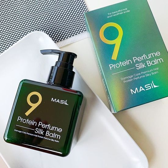 Несмываемый парфюмированный бальзам для волос с протеинами Protein Perfume Silk Balm Masil (фото, вид 1)
