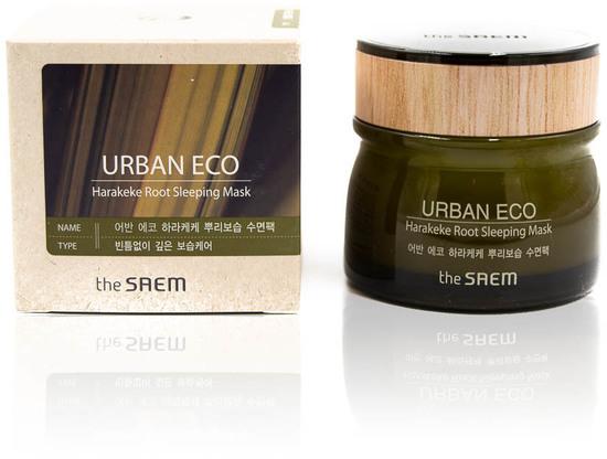 Ночная маска для лица с экстрактом новозеландского льна Urban Eco Harakeke Root Sleeping Mask The Saem (фото, вид 1)
