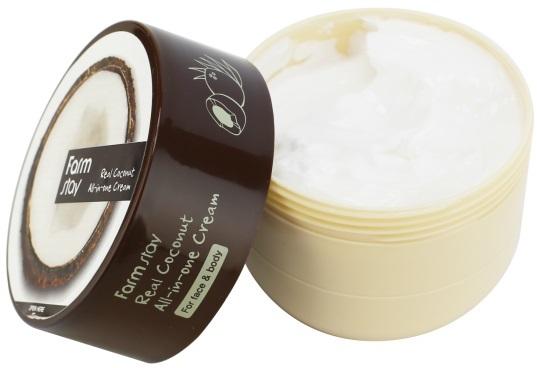 Многофункциональный крем для лица и тела с кокосом Real Coconut All-in-one FarmStay (фото, Многофункциональный крем с кокосом FarmStay)