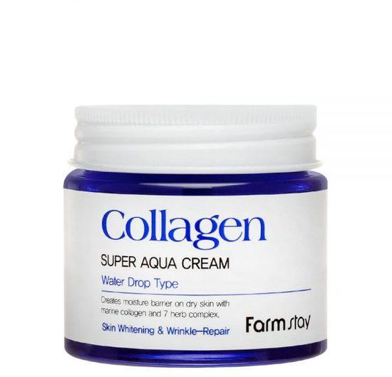 Суперувлажняющий крем для лица с морским коллагеном Collagen Super Aqua Cream FarmStay (фото, вид 1)