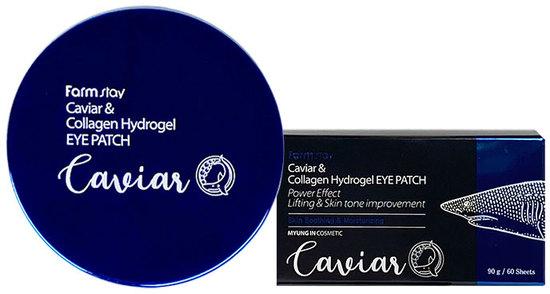 Омолаживающие патчи под глаза с коллагеном и экстрактом икры Hydrogel Eye Patch FarmStay (фото, вид 1)