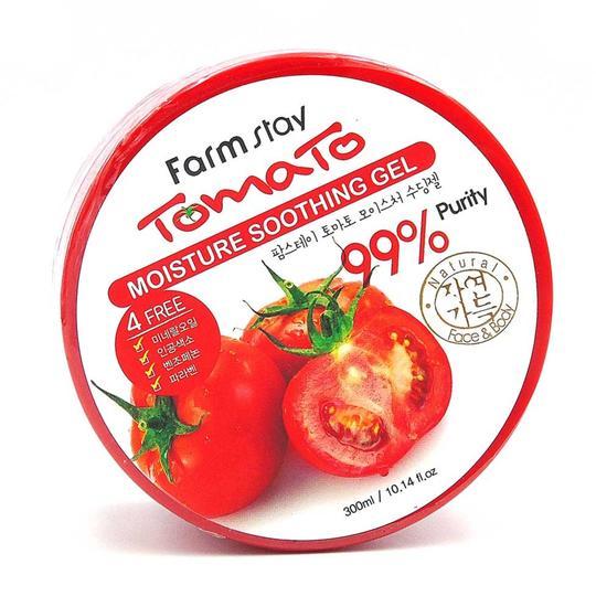 Увлажняющий успокаивающий гель для лица и тела с экстрактом томатов Tomato Moisture Soothing Gel FarmStay (фото, вид 2)