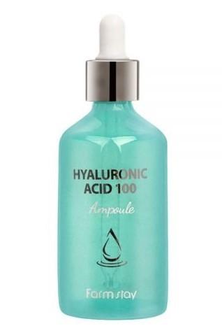 Ампульная сыворотка с гиалуроновой кислотой Hyaluronic Acid 100 Ampoule FarmStay (фото, вид 1)
