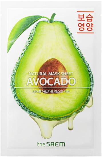 Тканевая маска с экстрактом авокадо Natural Avocado Mask Sheet The Saem (фото, вид 1)