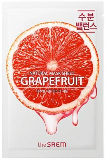 Тканевая маска с экстрактом грейпфрута Natural Skin Fit Mask Sheet Grapefruit The Saem (фото, вид 1)