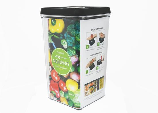 Вакуумный пищевой контейнер Norang Premium 5400 мл (фото, вид 2)