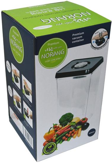 Вакуумный пищевой контейнер Norang Premium 5400 мл (фото, вид 4)