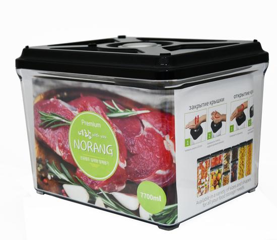 Вакуумный пищевой контейнер Norang Premium 7700 мл (фото, вид 1)