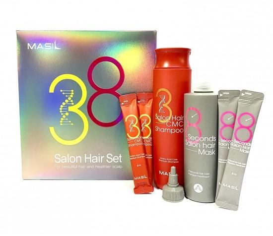 Набор для восстановления волос с кератином и коллагеном 38 Salon Hair Set Masil (фото, вид 2)