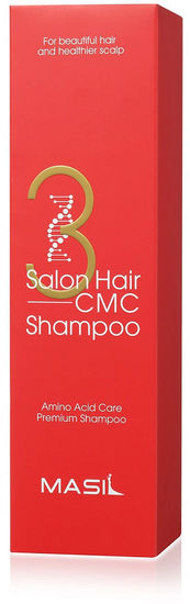 Восстанавливающий шампунь с кератином и аминокислотами 3 Salon Hair CMC Shampoo Masil (фото, вид 2)
