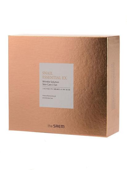 Набор антивозрастных средств премиум-класса с улиточным экстрактом Snail Essential Ex Wrinkle Solution Skin Care 3 Set The Saem (фото, вид 2)