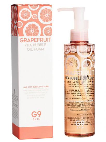 Пенка - масло для умывания с экстрактом грейпфрута Grapefruit Vita Bubble Oil Foam G9SKIN (фото, вид 1)