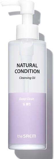 Гидрофильное масло для лица Natural Condition Cleansing Oil The Saem (фото, вид 2)