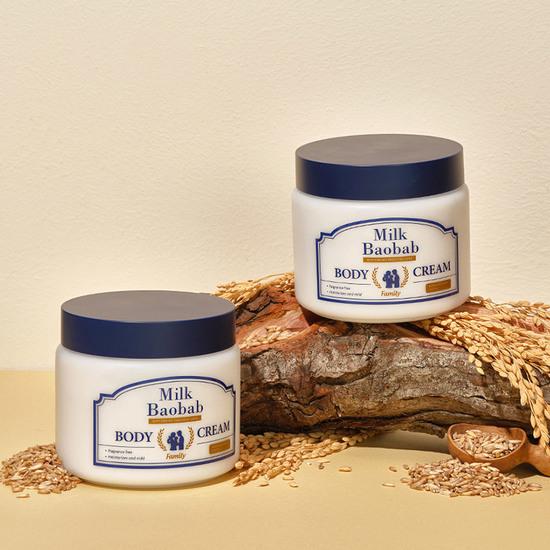 Глубоко увлажняющий крем для тела для всей семьи Family Body Cream Milk Baobab (фото, вид 1)