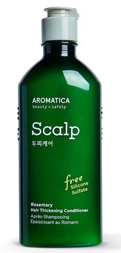 Бессиликоновый укрепляющий кондиционер с розмарином Rosemary Hair Thickening Conditioner Aromatica (фото, вид 1)