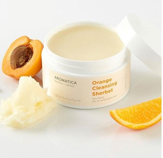 Апельсиновый очищающий щербет Orange Cleansing Sherbet Aromatica (фото, вид 1)
