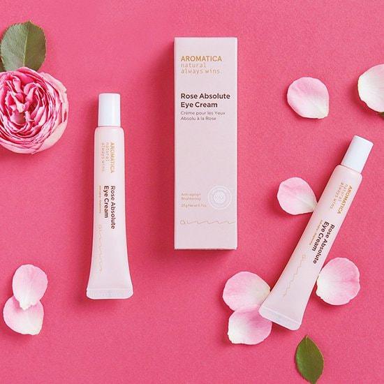 Органический крем для век с эфирным маслом розы Rose Absolute Eye Cream Aromatica (фото, крем для век Aromatica)