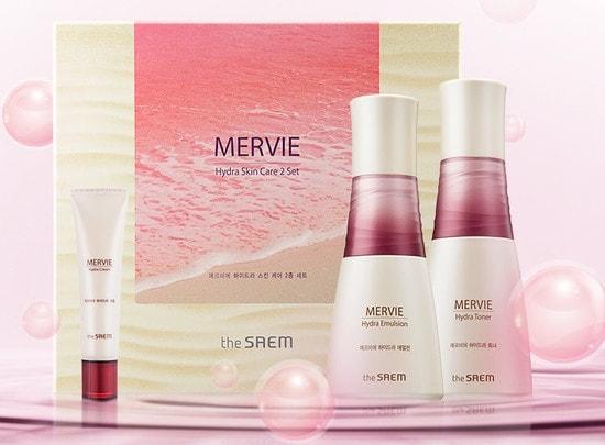 Уходовый набор для лица интенсивно увлажняющий Mervie Hydra Skin Care 2 Set The Saem (фото, вид 2)