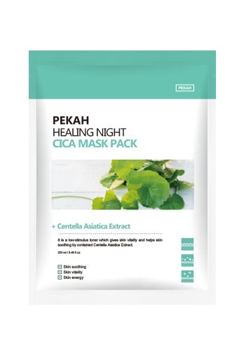 Вечерняя восстанавливающая маска с экстрактом центеллы азиатской Healing Night Cica Mask Pack Pekah (фото, Pekah Healing Night Cica Mask Pack)