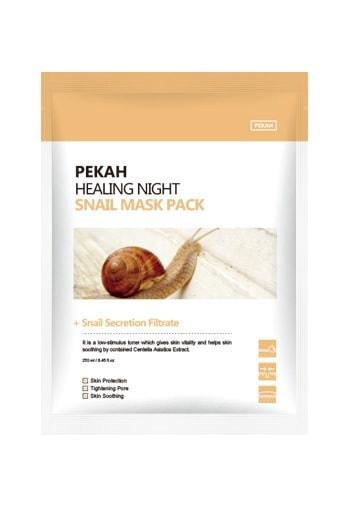 Вечерняя восстанавливающая маска с муцином улитки Healing Night Snail Mask Pack Pekah (фото, Pekah Healing Night Snail Mask Pack)
