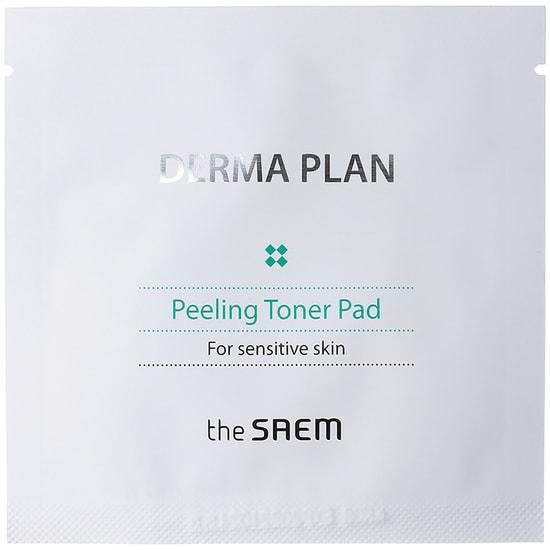 Тонизирующие пилинг-диски Derma Plan Peeling Toner Pad The Saem (фото, вид 2)