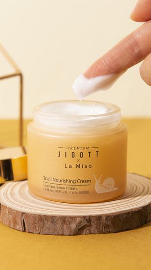 Питательный крем для лица с муцином улитки Premium Snail Nourishing Cream La Miso and Jigott (фото, вид 2)