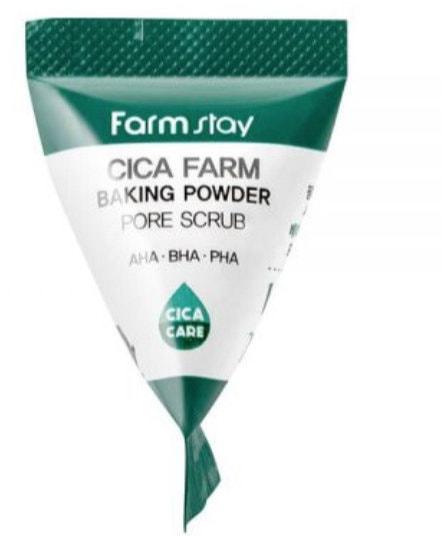 Скраб в пирамидках для очищения пор с центеллой азиатской Cica Farm Baking Powder Pore Scrub FarmStay (фото, Скраб в пирамидках с центеллой азиатской FarmStay)