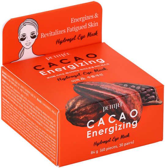 Тонизирующие гидрогелевые патчи для области вокруг глаз с экстрактом какао Cacao Energizing Hydrogel Eye Mask Petitfee (фото, PETITFEE Cacao Energizing Hydrogel Eye Mask)
