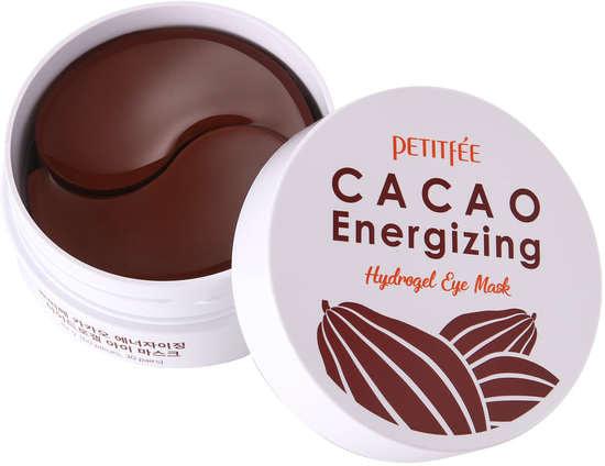 Тонизирующие гидрогелевые патчи для области вокруг глаз с экстрактом какао Cacao Energizing Hydrogel Eye Mask Petitfee (фото, гидрогелевые патчи с какао PETITFEE)