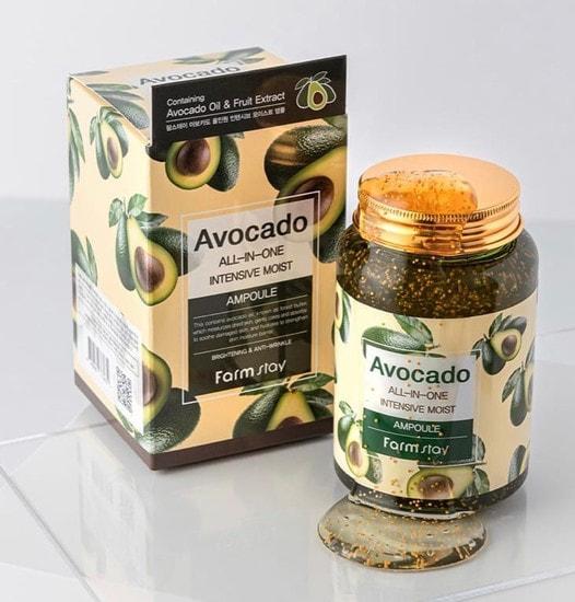 Многофункциональная ампульная сыворотка с экстрактом авокадо Avocado All-In-One Intensive Moist Ampoule FarmStay (фото, Многофункциональная ампульная сыворотка с экстрактом авокадо FarmStay)