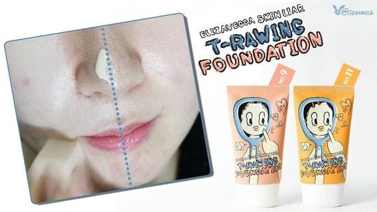 Тональный крем Skin Liar T-Rawing Foundation Elizavecca (фото, вид 4)