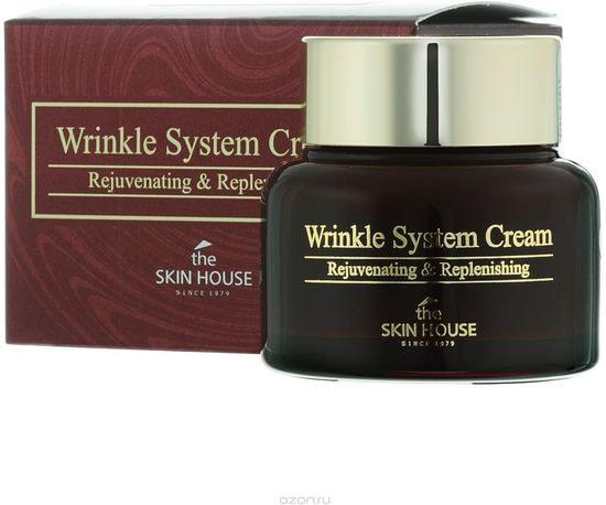 Антивозрастной питательный крем для лица с коллагеном Wrinkle System Cream The Skin House (фото, Антивозрастной питательный крем с коллагеном The Skin House Wrinkle System Cream)