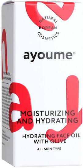 Увлажняющее масло для лица с экстрактом оливы Moisturizing and Hydrating Face Oil With Olive Ayoume (фото, Ayoume Moisturizing Hydrating Face Oil With Olive)