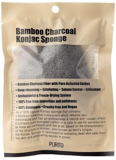 Спонж косметический конняку Konjac Sponge Purito (фото, Konjac Sponge Purito)