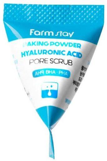 Скраб для лица с содой и гиалуроновой кислотой Hyaluronic Acid Baking Powder Pore Scrub FarmStay (фото, вид 2)